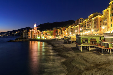 Camogli at evening, Liguria, Italy