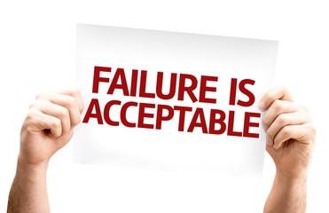 Failure is Acceptable card isolated on white background