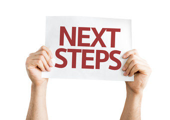 Next Steps card isolated on white background