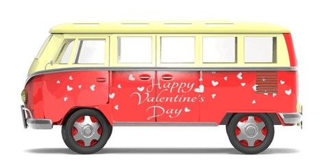Bus Happy Valentine's Day