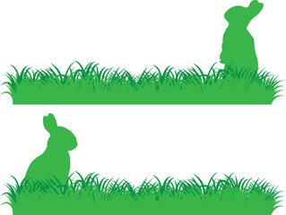 Simple bunny banner