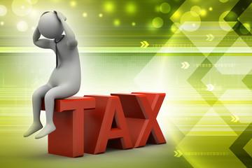 3d man in tax problem