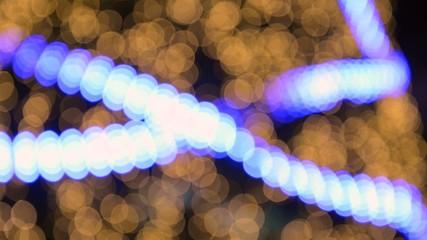 blurred bokeh running light