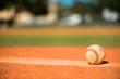 Leinwandbild Motiv Baseball on Pitchers Mound