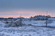 Winter in the Moscow region. Before dawn