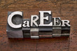 canvas print picture - career word in metal type