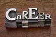 Zdjęcia na płótnie, fototapety, obrazy : career word in metal type