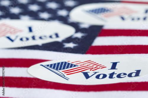 Leinwandbild Motiv I Voted