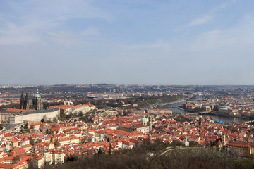 Spring skyline of Prague
