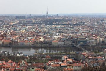 Spring view of Prague