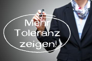 Anzeige - Toleranz