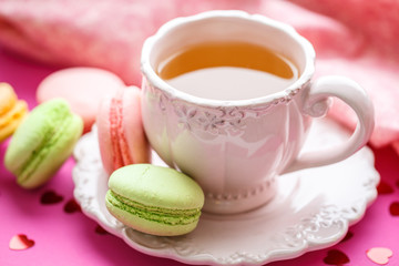 Macaroon with tea
