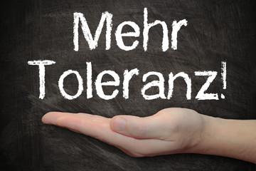 Tafel - Mehr Toleranz