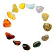 Gemstones on a white background - 75958421