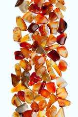Gemstones on a white background