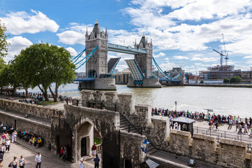 Tower Bridge from the Tower of London, UK
