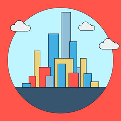 Downtown vector icon