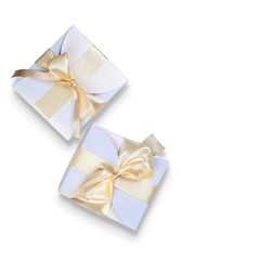 Two  boxes with gold bow