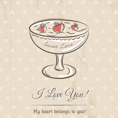 valentine card with wishes text,  vector