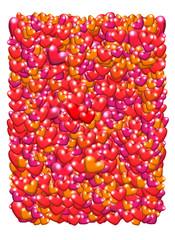 Valentine's day postcard illustration