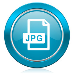 jpg file blue icon