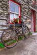 Old rusty bike at Irish cottage house