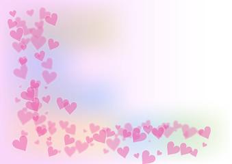 Rosa Herzen Valentinstag Hintergrund