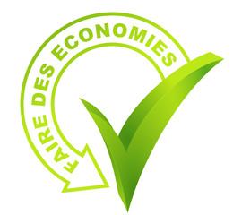 faire des économies sur symbole validé vert