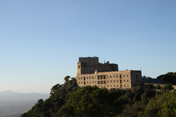beautiful monastery on hill