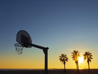 Basketball on the beach