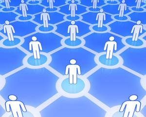 Social network concept 3D