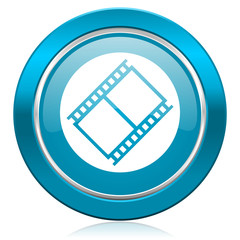 film blue icon movie sign cinema symbol