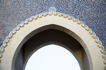 Bab Bou Jeloud gate (Blue Gate) in Fez, Morocco