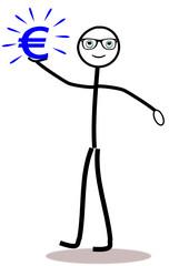Strichmännchen mit Eurosymbol