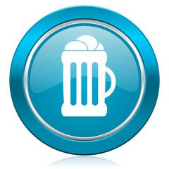 beer blue icon mug sign