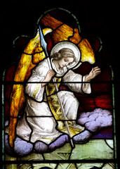 Angel on a cloud (stained glass)