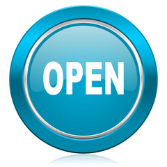 open blue icon