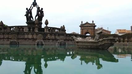 Square Fountain Villa Lante Bagnaia Viterbo Italy
