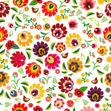DeviceTraditional Polish folk floral pattern vectors
