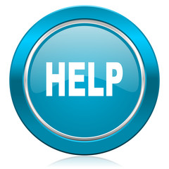 help blue icon