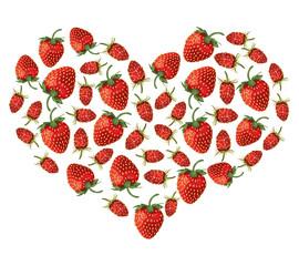 Strawberries heart