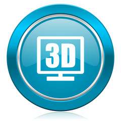 3d display blue icon