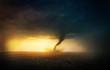 Leinwanddruck Bild - Tornado sunset