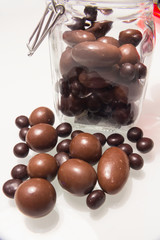 a glass jar full of delicious bonbons