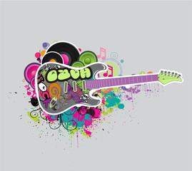 Electric guitar music symbol