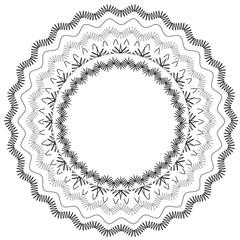 Black lace circle vector