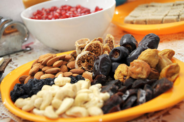 dried fruits on plate