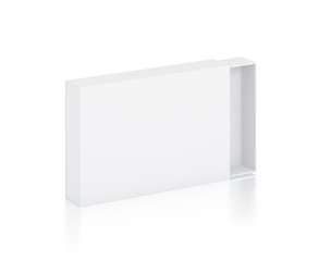 Rectangle white box illustration on isolated background