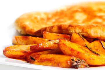 Fried pork chop with potato