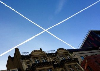 scotland flag in the air